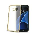 CELLY Laser TPU zadní kryt - lemování s kovovým efektem pro Samsung Galaxy S7 Edge / zlatý (BCLS7EGD)