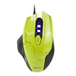 E-Blue Mazer / Herní optická myš / 2500DPI / 6 tlačítek / 1 kolečko / drátová (USB) / zelená (EMS642GR)