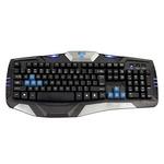 E-BLUE Combatant- EX / Herní klávesnice / drátová (USB) / US / podsvícené okraje / odolná proti polití / černá (EKM739BKUS-IU)