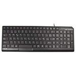 E-BLUE Delgado / Klasická klávesnice / drátová (USB) / US + CZ/SK přelepky / černá (EKM064BK)
