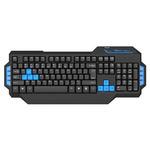 E-BLUE Mazer / Herní klávesnice / drátová (USB) / US / podsvícené okraje / černá (EKM072BK)