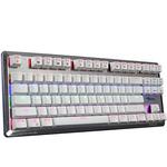 E-BLUE Klávesnice Mazer Mechanical / Herní klávesnice / drátová (USB) / US / podsvícená s hnědým spínačem / bílá (EKM727WTUS-IU)