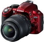 "Nikon D3100 + 18-55mm AF-S DX VR / 14,2 Mpix / CMOS / 3"" LCD / red"