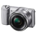 Sony Alpha ILCE-5000 + 16 - 50mm / 20,1 Mpix / CMOS / 3 LCD / stříbrná (ILCE5000LS.CEC)