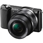 Sony Alpha ILCE-5000 + 16 - 50mm + 55 - 210 mm / 20,1 Mpix / CMOS / 3 LCD / černý (ILCE5000YB.CEC)