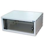 Triton 19 rozvaděč jednodílný 4U/400mm / rozebraný / DeltaX plechové dveře (RXA-04-CS4-CAX-A1)