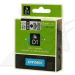 Dymo orig. páska, 45010, S0720500, černý tisk/průhledný podklad, 7m, 12mm