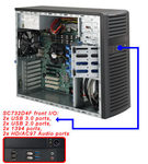 SUPERMICRO Mid-Tower / 4x 3.5 fixed HDD / 2x 5.25 / 1x ext 3,5 / 500W (80PLUS( (CSE-732D4F-500B)