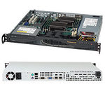 SUPERMICRO mini1U chassis / 2x 3.5 fixed HDD / 350W (80PLUS GOLD) (CSE-512F-350B)