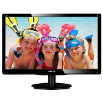 "19"" LCD PHILIPS 190V4LSB / LED / 1440 x 900 / TN / 16:10 / 5ms / 10m:1 / 250cd/m2 / VGA / DVI-D / VESA / �ern�"