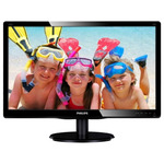 "23"" PHILIPS 236V4LSB / LED / 1920 x 1080 / TN / 16:9 / 5ms / 10mil:1 / 250cd-m2 / VGA / DVI-D / �ern�"