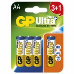 GP AA Ultra Plus - 3+1 ks / alkalická (1017214005)