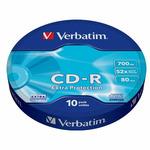 Verbatim CD-R 700MB 10ks / 52x / WRAP EXTRA PROTECTION (43725-V)