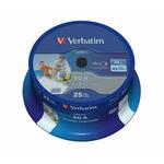 Verbatim BD-R SL Datalife 25GB 25ks / 6x / Wide Printable / Spindle (43811-V)