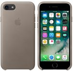 Apple Leather Case pro Apple iPhone 7 - Taupe (MPT62ZM/A)