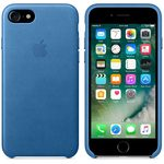 Apple Leather Case pro Apple iPhone 7 - Sea Blue (MMY42ZM/A)