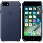 Apple Leather Case pro Apple iPhone 7 - Mid Blue (MMY32ZM/A)