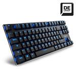 Sharkoon PureWriter TKL Blue / Herní drátová klávesnice / USB / Spínač: Kailh Blue / podsvícení / DE layout (4044951020966)