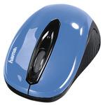 Hama AM-7300 modrá / Optická myš bezdrátová / 1000DPI / 2.4GHz / 3 tlačítka / 2x AAA (86566-H)