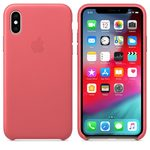 Apple Leather Case pro iPhone XS - Peony Pink (MTEU2ZM/A) - Pouzdro Apple kožené Apple iPhone XS pivoňkově růžové