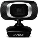 CANYON CNE-CWC3 / 1080P Full HD webová kamera / USB2.0 / otočná o 360° / černá (CNE-CWC3)