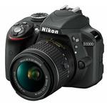 Nikon D3300 + AF-P 18-55 VR + 55-200 VR II / 24.2 Mpix / CMOS / 3.0 LCD / černá (VBA390K009)