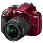 Nikon D3400 + AF-P 18-55 VR / 24.2 Mpix / CMOS / 3.0 LCD / červená (VBA491K001)