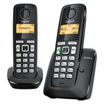 SIEMENS Gigaset A220A Duo / DECT / GAP / bezdrátový telefon se záznamníkem / černá (GIGASET-A220A DUO)