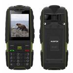 Aligator R20 eXtremo / 2.4 / IP67 / svítilna / microSDHC / Dual SIM / 4000mAh / černo-zelený (R20-green/black)