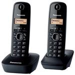 Panasonic KX-TG1612FXH šedá / DECT bezdrátový telefon s displejem / CLIP / 2 sluchátka (KX-TG1612FXH)