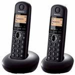 Panasonic KX-TGB212FXB černá / DECT bezdrátový telefon s displejem / CLIP / 2 sluchátka (KX-TGB212FXB)