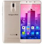 Kruger Matz FLOW 5 + zlatá / 5.7 / Q-C 1.3GHz / 2GB / 16GB / 8MP+5MP / Dual-SIM / Android 7 (KM0447-G)
