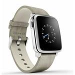 Pebble Time Steel Smartwatch / Chytré hodinky / mikrofon / iOS / Android / stříbrno-šedý (51100023)