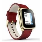 Pebble Time Steel Smartwatch / Chytré hodinky / mikrofon / iOS / Android / zlato-červený (51100036)