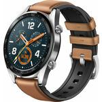 HUAWEI Watch GT Classic stříbrná / Chytré hodinky / 1.39 Amoled / Bluetooth / GPS / měření tepu / 5 ATM / až 14dní (Fortuna-B19V)