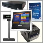 EET Mironet KASA / pokladní SW Darwin 3 / 15.6 dotykové PC + tiskárna + pokl.zásuvka + zák.displej / černá (POS-MIR-B01B)