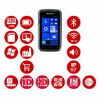 Honeywell Dolphin CT50 / 2D / BT / Wi-Fi / NFC / 4G / kamera / Win 10 IoT Mobile Enterprise (CT50LUN-CS14SE0)