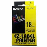 CASIO originální páska do tiskárny štítků CASIO XR-18YW1 / černý tisk / žlutý podklad / nelaminovaná / 8m / 18mm (XR-18YW1)