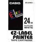 CASIO originální páska do tiskárny štítků CASIO XR-24WE1 / černý tisk / bílý podklad / nelaminovaná / 8m / 24mm (XR-24WE1)