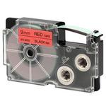 CASIO originální páska do tiskárny štítků CASIO XR-9RD1 / černý tisk / červený podklad / nelaminovaná / 8m / 9mm (XR-9RD1)
