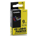 CASIO originální páska do tiskárny štítků CASIO XR-9YW1 / černý tisk / žlutý podklad / nelaminovaná / 8m / 9mm (XR-9YW1)