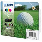 Epson Multipack 4-colours 34 Durabite Ultra Ink / Sada inkoustů do tiskárny / 4 barvy / 18.7ml (C13T34664010)