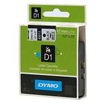 Dymo originální páska do tiskárny štítků 12mm x 7m / černý tisk / bílý podklad / D1 (S0720530)