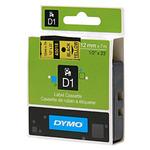 Dymo originální páska do tiskárny štítků 12mm x 7m / černý tisk / žlutý podklad / D1 (S0720580)