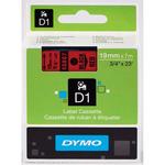 Dymo originální páska do tiskárny štítků 19mm x 7m / černý tisk / červený podklad / D1 (45807-D)