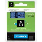Dymo originální páska do tiskárny štítků 19mm x 7m / černý tisk / modrý podklad / D1 (45806-D)