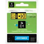 Dymo originální páska do tiskárny štítků 19mm x 7m / černý tisk / žlutý podklad / D1 (45808-D)