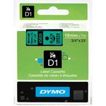 Dymo originální páska do tiskárny štítků 19mm x 7m / černý tisk /zelený podklad / D1 (45809-D)