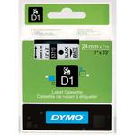 Dymo originální páska do tiskárny štítků 24mm x 7m / černý tisk / bílý podklad / D1 (53713-D)