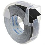 Dymo originální páska do tiskárny štítků 9mm x 3m 1ks / bílý tisk / černý podklad / 3D / 1ks (S0898130.1)